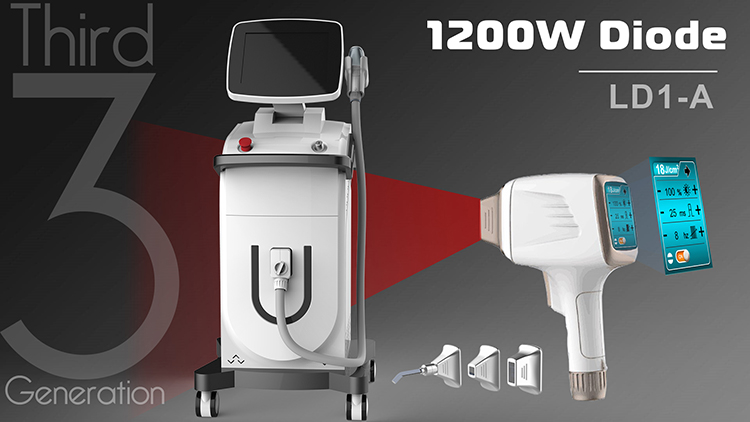 3rd Generation Diode Laser with 3 Tips and Screen in Handle